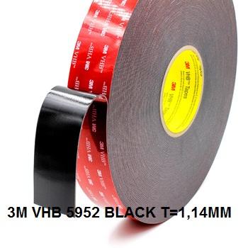 3M VHB 5952 BLACK LOG ROLL SIZE